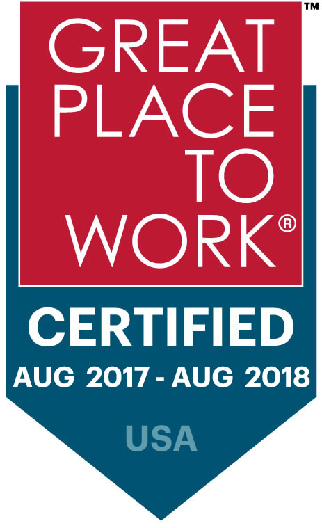 Great Place to Work Certification 2017-2018