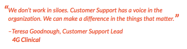 Quote on 4G Customer Support Voice in the Organization