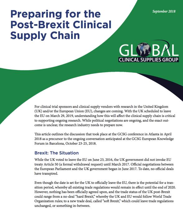 GCSG White Paper Brexit