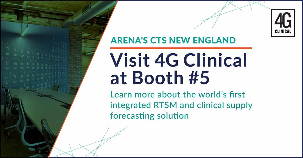 Visit 4G Clinical at booth number 5
