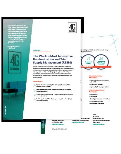 4G Clinical RTSM Data Sheet