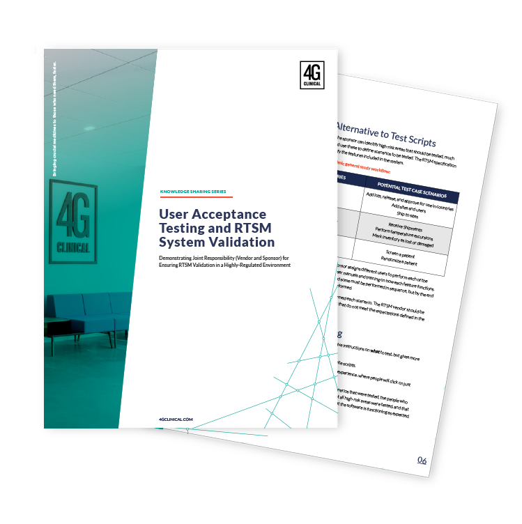 User Acceptance Testing and RTSM System Validation white paper
