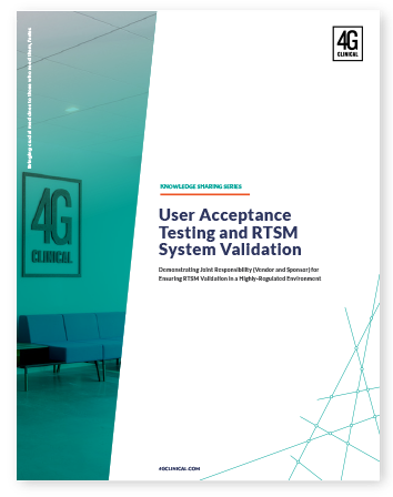 User Acceptance Testing and RTSM System Validation